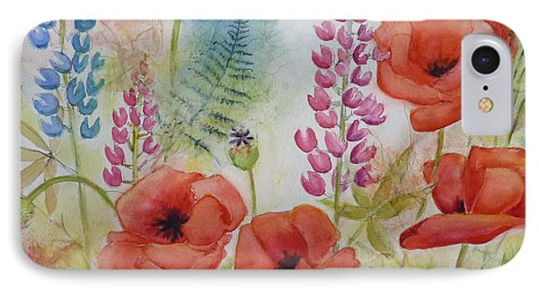 IPhone Case featuring the painting Oriental Poppies Meadow by Carla Parris