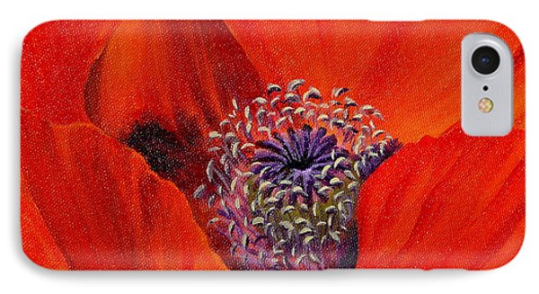 IPhone Case featuring the painting Oriental Poppy by Jo Appleby