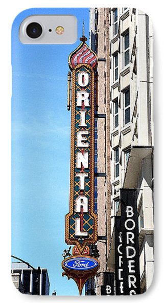 Oriental Theater With Watercolor Effect IPhone Case by Frank Romeo