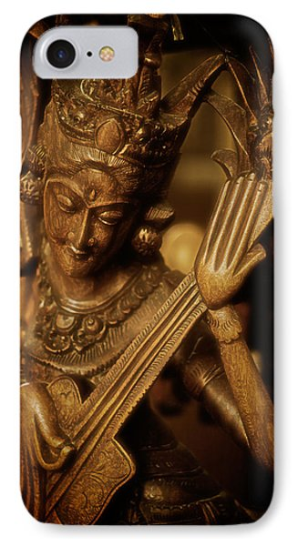 Oriental Wooden Princess Playing Instrument IPhone Case