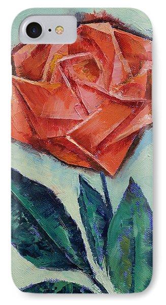 Origami Rose IPhone Case