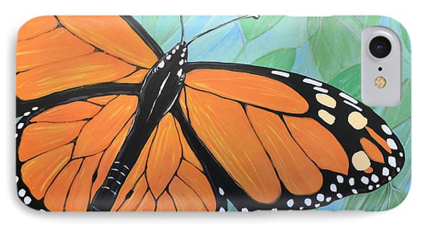 IPhone Case featuring the painting Original Abstract Painting Butterfly Print ... Monarch by Amy Giacomelli