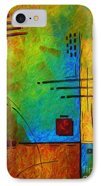 Original Abstract Painting Digital Conversion For Textured Effect Resonating IIi By Madart Phone Case by Megan Duncanson