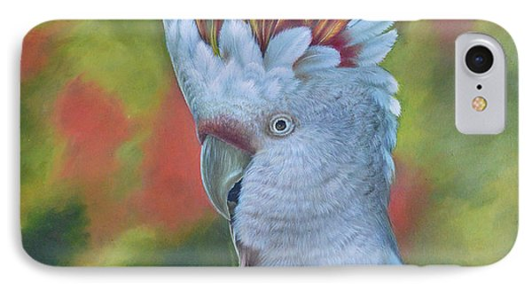 Original Animal Oil Painting Art -parrot #16-2-5-17 IPhone Case by Hongtao     Huang