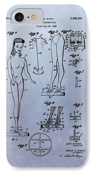 Original Barbie Doll Patent IPhone Case by Dan Sproul