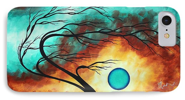 Original Bold Colorful Abstract Landscape Painting Family Joy I By Madart IPhone Case