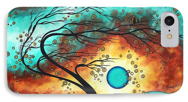 Original Bold Colorful Abstract Landscape Painting Family Joy II By Madart IPhone Case