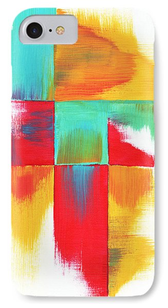 Original Bold Colorful Abstract Painting Indecisive By Madart Phone Case by Megan Duncanson