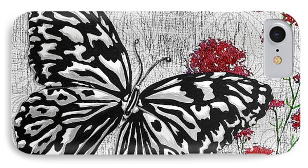 Original Inspirational Uplifting Butterfly Painting Celebrate Life IPhone Case by Megan Duncanson