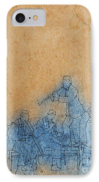 Original Jazz Band Portrait IPhone Case by Pablo Franchi