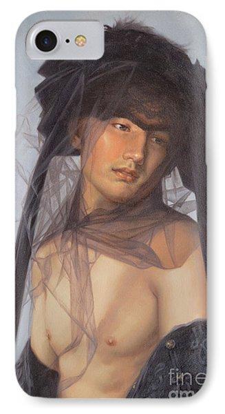 Original Oil Painting  Man Body Art-  Male Nude-053 IPhone Case