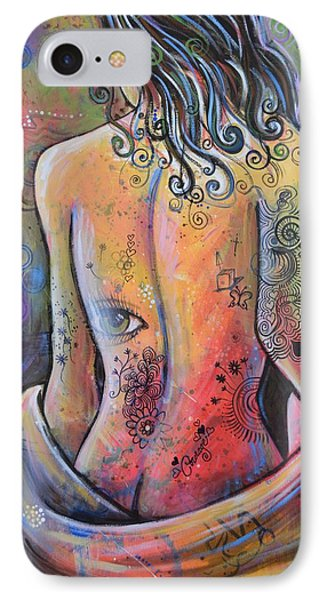IPhone Case featuring the painting Original Painting Woman Art Art Print ... The Company You Keep by Amy Giacomelli