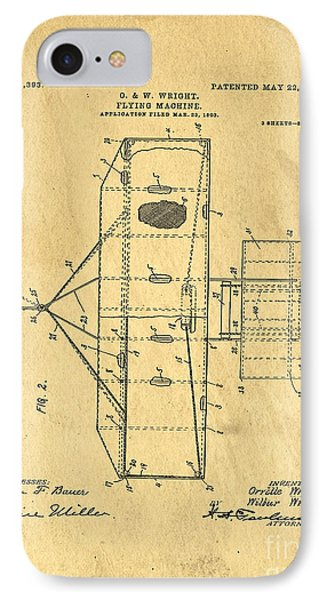 Original Patent For Wright Flying Machine 1906 IPhone Case by Edward Fielding