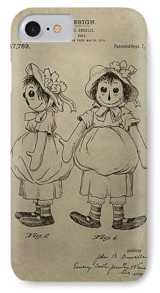 Original Raggedy Ann Doll IPhone Case by Dan Sproul