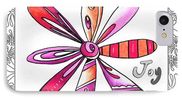Original Uplifting Inspirational Flower Quote Typography Art By Megan Duncanson IPhone Case by Megan Duncanson