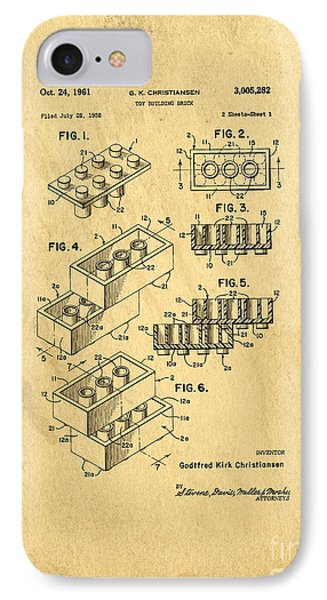 Original Us Patent For Lego Phone Case by Edward Fielding