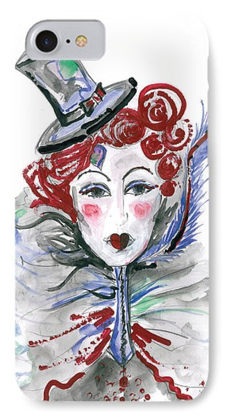 Original Watercolor Fashion Illustration IPhone Case by Marian Voicu