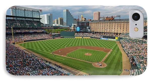 Oriole Park At Camden Yards IPhone Case by Mark Whitt