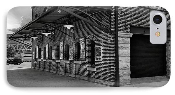 Oriole Park Box Office Bw IPhone Case by Susan Candelario