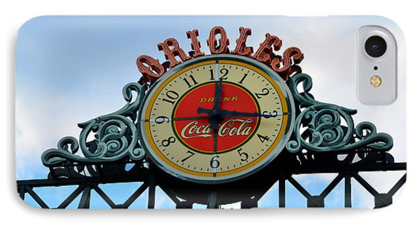 Orioles Clock - Camden Yards IPhone Case by Bill Cannon