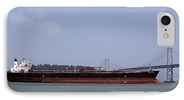 Orion Voyager Oil Tanker Passing Through Bay Bridge IPhone Case by Jason O Watson
