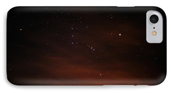 Orion With His Feet In The Clouds IPhone Case by Richard Stephen