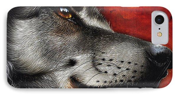 Orion Wolf IPhone Case by Jurek Zamoyski