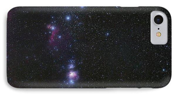 Orion's Belt And Nebulae IPhone Case by Eckhard Slawik