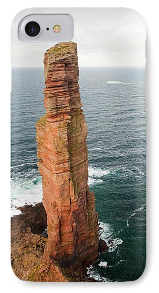 Orkney Ferry Passing The Old Man Of Hoy IPhone Case by Ashley Cooper