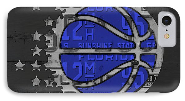 Orlando Magic Basketball Team Logo Vintage Recycled Florida License Plate Art IPhone Case