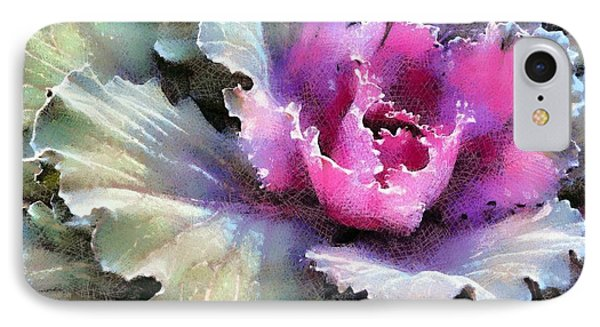 IPhone Case featuring the photograph Ornamental Cabbage And Kale - Purple Frost by Janine Riley