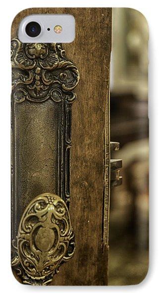 Ornate Brass Doorknob Phone Case by Lynn Palmer