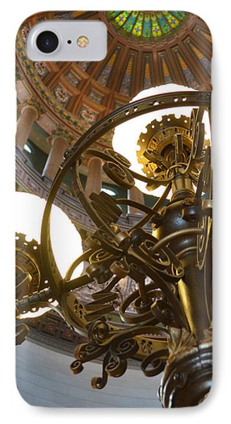 Ornate Lighting - Sprngfield Illinois Capitol IPhone Case by Luther Fine Art