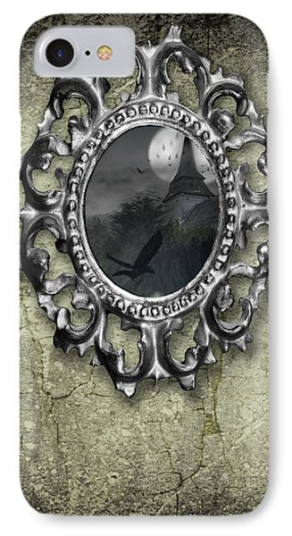 Ornate Metal Mirror Reflecting Church IPhone Case by Amanda Elwell