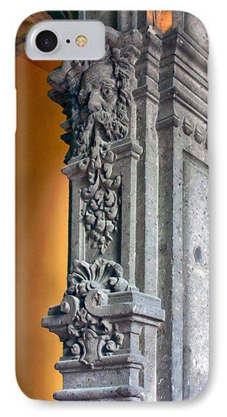 Ornate Mexican Stone Column Phone Case by Lynn Palmer