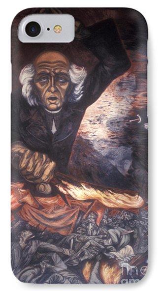 Orozco Mural Guadalajara IPhone Case by John  Mitchell