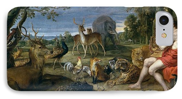 Orpheus And Animals IPhone Case by Frans Snyders