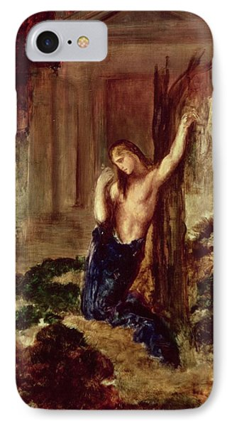 Orpheus At The Tomb Of Eurydice Phone Case by Gustave Moreau