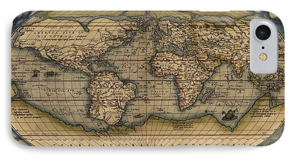 Ortelius Old World Map IPhone Case by Joseph Hawkins