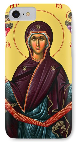 Orthodox Icon Of Mary Phone Case by Munir Alawi