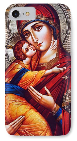 Orthodox Mary And Jesus Phone Case by Munir Alawi
