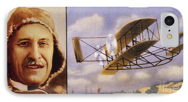 Orville Wright And Biplane Phone Case by Mary Evans Picture Library