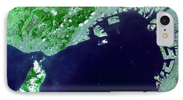 Osaka Bay IPhone Case by Nasa/gsfc/meti/japan Space Systems And U.s./japan Aster Science Team