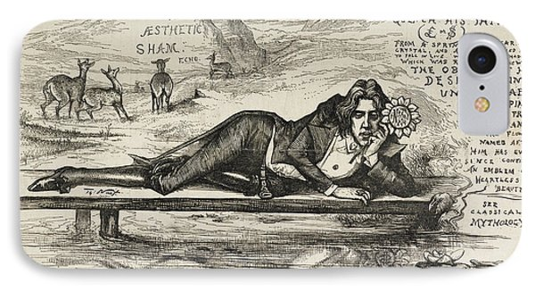 Oscar Wilde As Narcissus IPhone Case by British Library