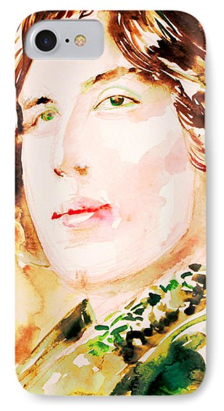Oscar Wilde Watercolor Portrait.3 Phone Case by Fabrizio Cassetta