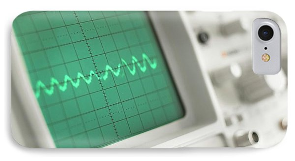 Oscilloscope IPhone Case by Science Photo Library