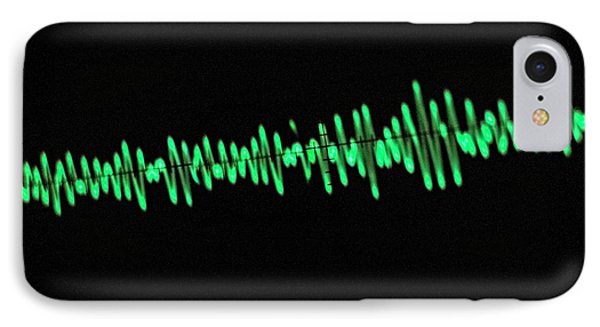 Oscilloscope Screen IPhone Case by Science Photo Library