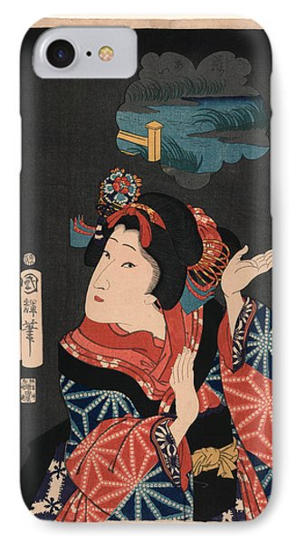 Oshichi The Young Maiden Oshichi. Utagawa, Kuniteru IPhone Case by Kuniteru, Utagawa (1808-1876), Japanese