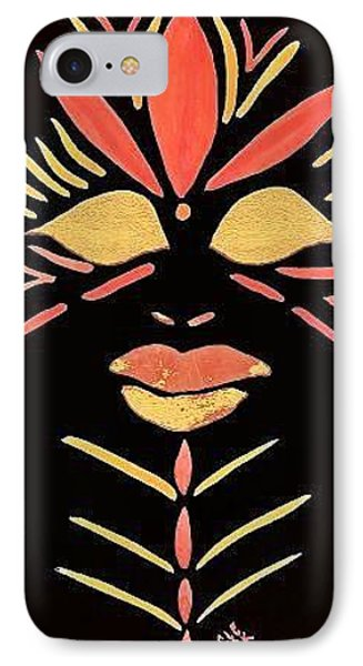 IPhone Case featuring the painting Oshun by Cleaster Cotton