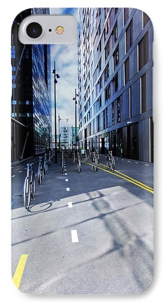 Oslo Architecture No. 3 -bicycles IPhone Case by Mary Machare